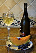 Cantaloupe Photo Prints - A Light Snack a Little Wine Print by Paul Cannon