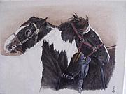 Blinkers Paintings - A little comfort  Milltown Fair by Pauline Sharp