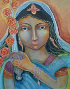 Goddess Durga Painting Framed Prints - A Little Drop of Durga Framed Print by Kate Langlois