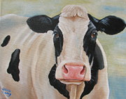 Calf Paintings - A Little Hope by Laura Carey