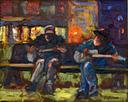 Eureka Springs Painting Prints - A Little Night Music Print by Jody Stephenson