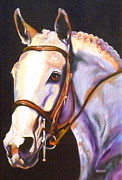 Thoroughbred Horse Art - A Little Night Music by Susan A Becker