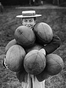 Rugby Union Photo Posters - A Load Of Balls Poster by Fox Photos