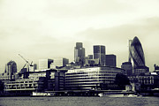 London Skyline Art - A London View by Lisbet Svensson Schau