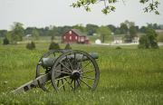 Civil War Cannon Prints - A Lone Cannon Stands In A Field Print by Greg Dale