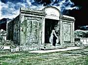 Lafayette Digital Art Prints - A Lonely Phantom In A Forgotten New Orleans Cemetery Print by James Griffin