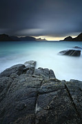 Nordic Countries Prints - A Long Exposure Scene At Haukland Beach Print by Arild Heitmann
