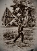 Confederate Flag Digital Art Prints - A Long Walk Home Print by Bill Cannon