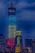 Freedom Tower Prints - A Look At Freedom Print by Susan Candelario