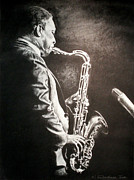 Saxophone Drawings - A Love Supreme by Dashaan V Tran
