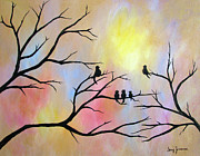 Family Love Paintings - A Luminous Light by Stacey Zimmerman