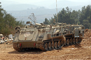 Israeli Art - A M113 Armored Personnel Carrier by Andrew Chittock
