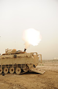 Baghdad Framed Prints - A M120 Mortar System Is Fired Framed Print by Stocktrek Images