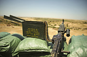 Ledge Prints - A M240b Medium Machine Gun Print by Stocktrek Images