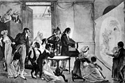 Magic Show Framed Prints - A Magic Lantern Show, Ca. 1855 Framed Print by Everett