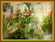 Shrooms Digital Art - A Magical Place by Joyce Dickens