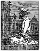Turban Framed Prints - A Mahometan At Prayer Framed Print by Granger