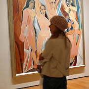 Demoiselles Framed Prints - A Maid and Les Demoiselles dAvignon Framed Print by Frank Winters