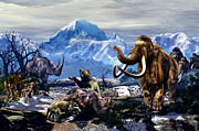 Prehistoric Digital Art - A Mammoth Journey  by Kurt Miller