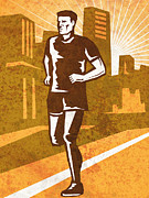 Sports Clothing Framed Prints - A Man Running Framed Print by Aloysius PatrIsaac Montemayornio