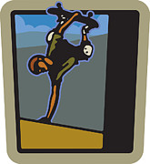 Skateboard Digital Art - A Man Skateboarding by Neal Aspinall