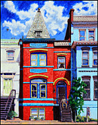 Colorful Buildings Prints - A Mans Castle Print by John Lautermilch