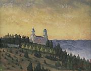 Temple Paintings - A Manti  Morning by Jeff Brimley