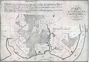 A Map Of General Washingtons Farm Print by Everett