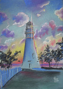 Lighthouse Pastels - A Marblehead Twilight by Karina Repp