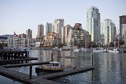 Vancouver Photos - A Marina In Downtown Vancouver by Taylor S. Kennedy