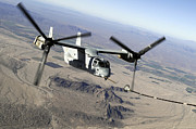 Osprey Framed Prints - A Marine Corps Mv-22 Osprey Prepares Framed Print by Stocktrek Images