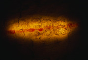 Writings Posters - A Maya Inscription In Jolja Cave Dates Poster by Stephen Alvarez