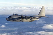 Mid-air Prints - A Mc-130p Combat Shadow Soars Print by Gert Kromhout