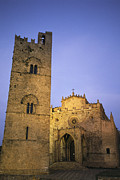 Erice Posters - A Medieval Church And Campanile Or Bell Poster by Richard Nowitz