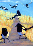Magpies Tapestries Textiles - A Meeting Of Parliament by Cheryl Whitehall