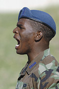 Yelling Prints - A Member Of The U.s. Air Force Academy Print by Stocktrek Images