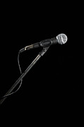 Music Stand Photos - A Microphone by Antenna