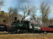 Colorado Railroad Museum Prints - A Mid Day Run Print by Ken Smith