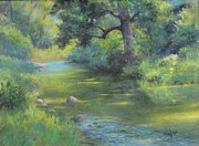 Stream Pastels Posters - A Midsummer Days Stream II  Poster by Bill Puglisi