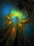 Gold  Digital Art - A Midsummer Night by Amanda Moore