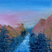 Canyon Paintings - A Mighty River Canyon by Jera Sky