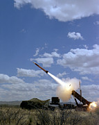 Surface-to-air Posters - A Mim-104 Patriot Anti-aircraft Missile Poster by Stocktrek Images