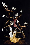 Religious Art Painting Originals - A Mime to Praise by Frank Sowells Jr
