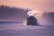 People On Ice Photos - A Mine Transport Truck Drives by Nick Norman