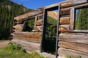 Log Cabins Photo Originals - A Miner Perspective by Cynthia Cox Cottam