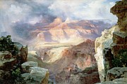 American School Framed Prints - A Miracle of Nature Framed Print by Thomas Moran