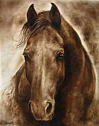 Barok Framed Prints - A Misty touch of a Horse so gentle Framed Print by Paula Collewijn -  The Art of Horses