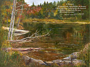 Adirondack Park Art - A Moment     with poem by George Richardson