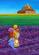 Wicker Baskets Prints - A MOMENT - Crop Of Original - To See Complete Artwork Click View All Print by Anne Klar