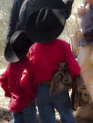 Cowboys Mixed Media - A Moment in Texas History by Kim Henderson